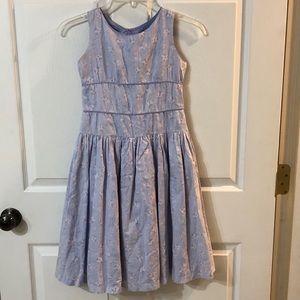 American Girl Floral Lavender Dress Sz 8